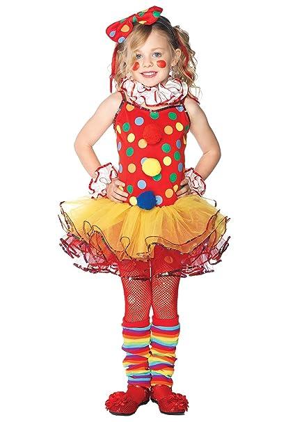 Disfraz de payaso de circo niña 3-4 años (98/104): Amazon.es ...