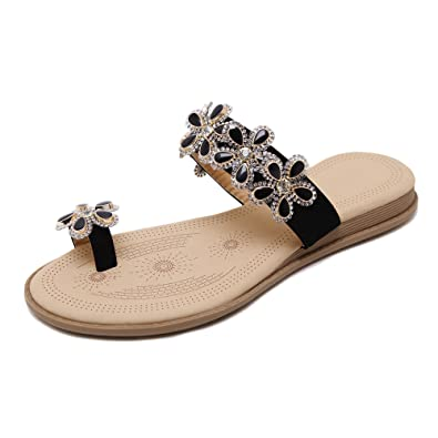 Damen Flip-Flops Sandalen Schuhe von Blumen Böhmen Stile RtDZ1