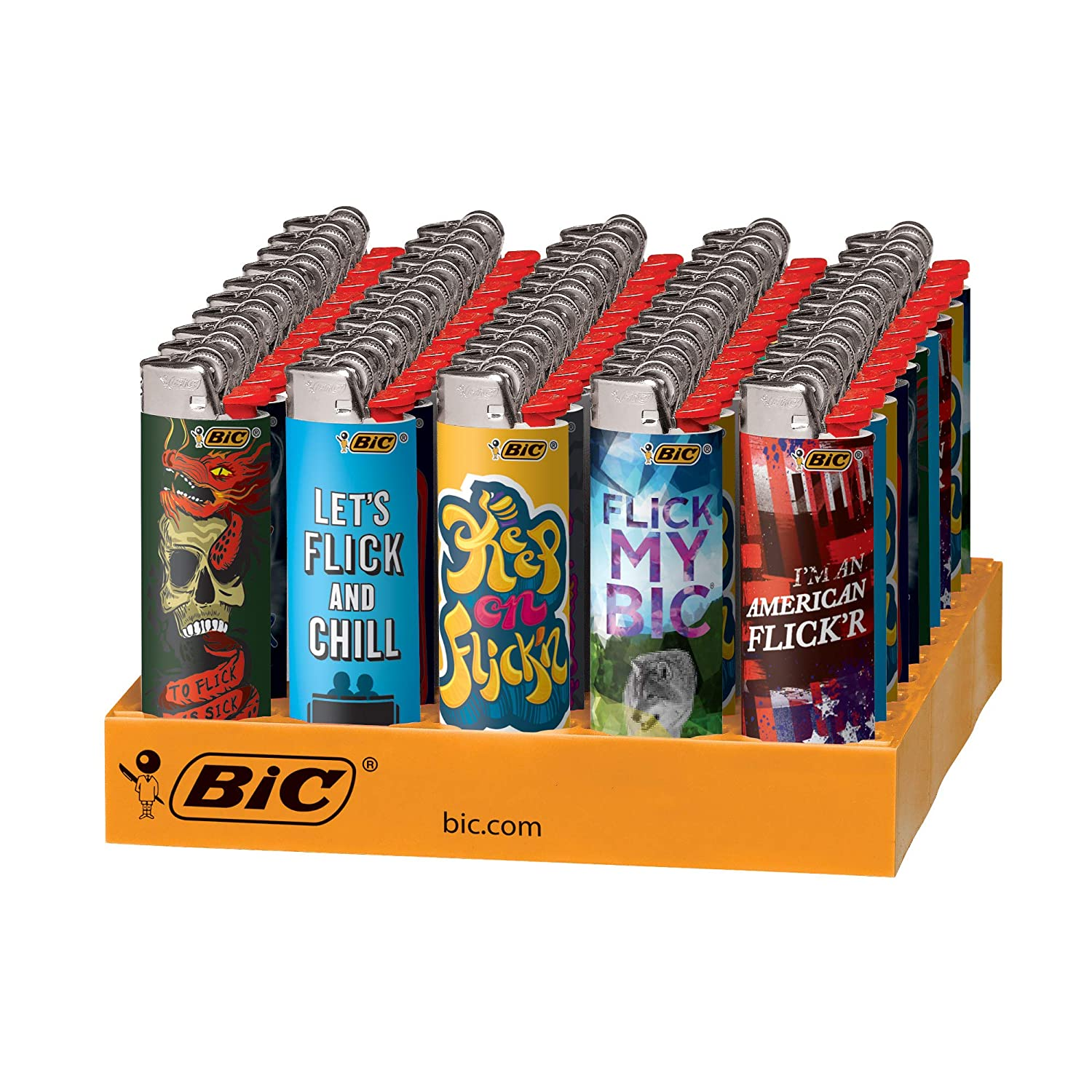 BIC Special Edition Flick My BIC Series Lighters 50-Count Tray