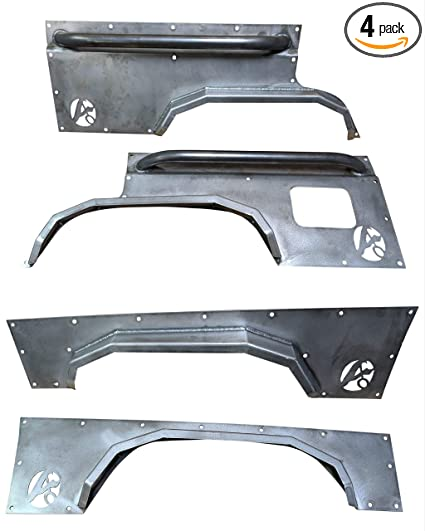 Amazon com: Front and Rear Elite Steel Fender Flares-Jeep