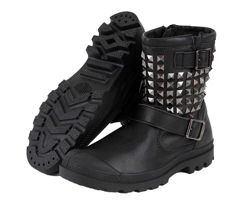 Palladium Women's Poundy Leather B00PAZET8E Studded Boots 93263-001 Black B00PAZET8E Leather 6 207df8