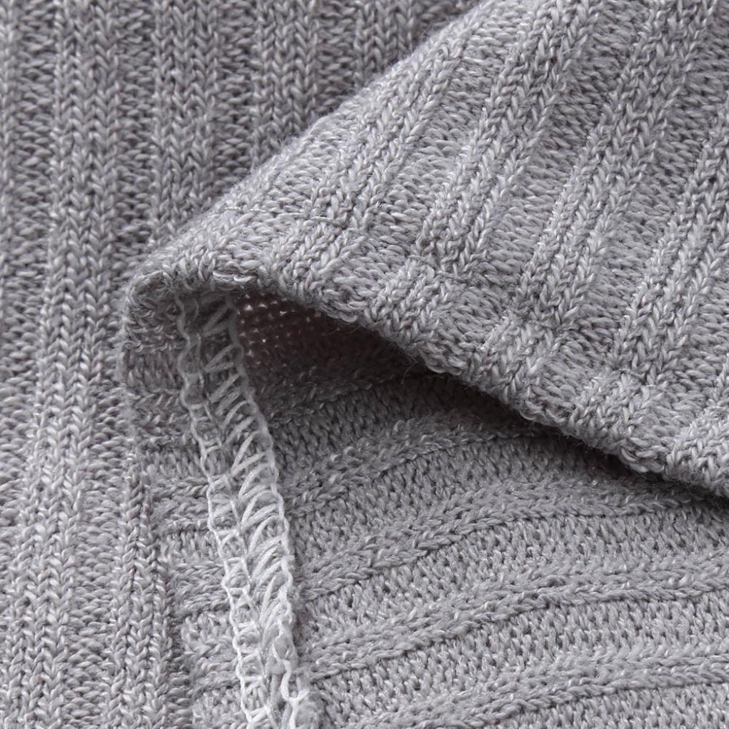 Longra☀☀ Blusa de Cuello Alto sólido de Las Mujeres de Alta Calidad de Punto Blusas de Punto suéter Camisa del Ombligo Sueter de Mujer Verano: Amazon.es: ...