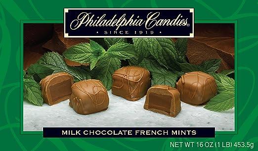 Philadelphia candies leche y Chocolate oscuro francés menta ...
