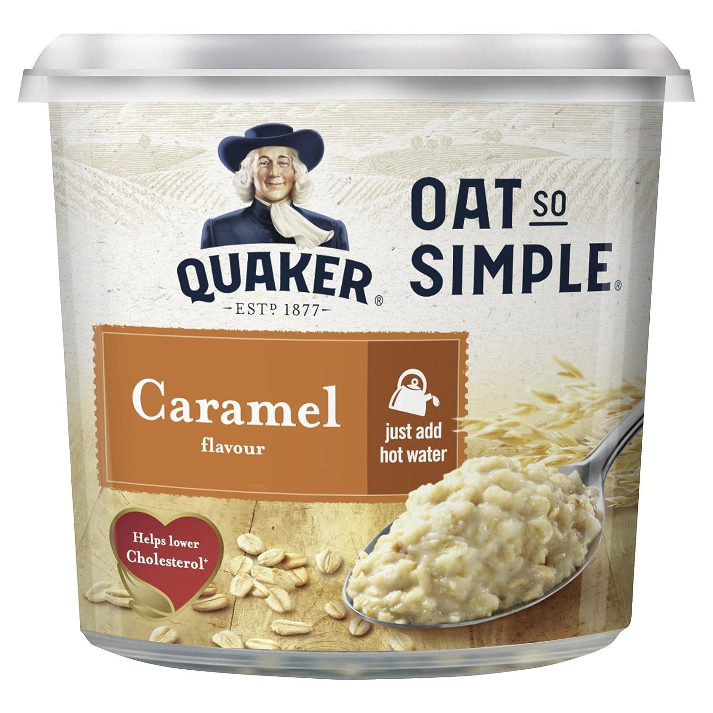 Quaker Oat So Simple Caramel Flavour Porridge Pots 57 G Pack Of 8 Instant Oatmeal Jar 1 Carton 12 Pcs P Grocery