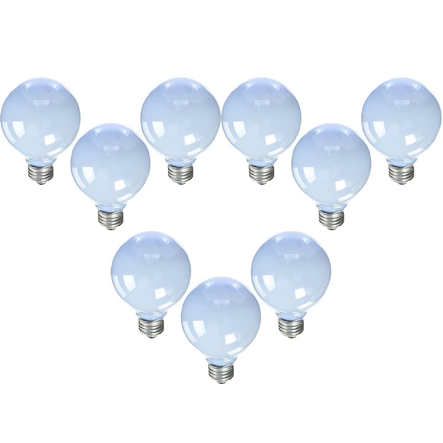 GE Reveal Frosted 40-Watt 250 Lumens; 1.4 Year Life G25 Decorative Globe Light Bulbs (9 Bulbs)