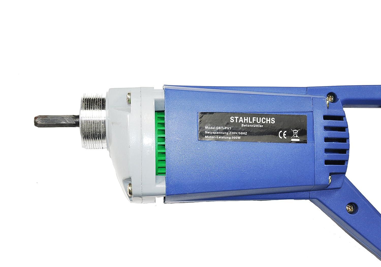 STAHLFUCHS Elektro-Betonr/üttler 900W Betonr/üttler inkl 2,0 m R/üttelflasche R/üttler Innenr/üttler 2. Generation