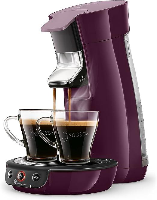 Senseo Viva Café HD6563/91 - Cafetera (Independiente, Máquina de café en cápsulas, 0,9 L, Dosis de café, 1450 W, Berenjena): Amazon.es: Hogar