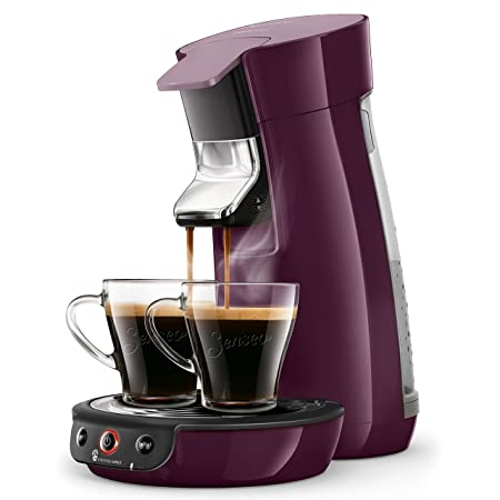 Senseo Viva Café HD6563/91 - Cafetera (Independiente, Máquina de café en cápsulas, 0,9 L, Dosis de café, 1450 W, Berenjena)