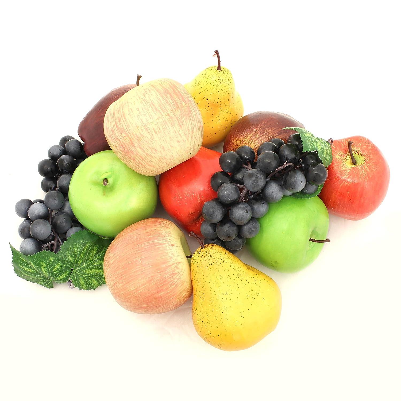 ALEKO AFA3 Decorative Realistic Artificial Fruits Assortment   Package Of  12 Fruits