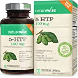NatureWise 5-HTP 100 mg, Supports Appetite Suppression, Weight Loss, Mood Enhancement, Natural Sleep Aid, Gluten-Free, Vitamin B6, Non-GMO, 120 Vegetarian Capsules