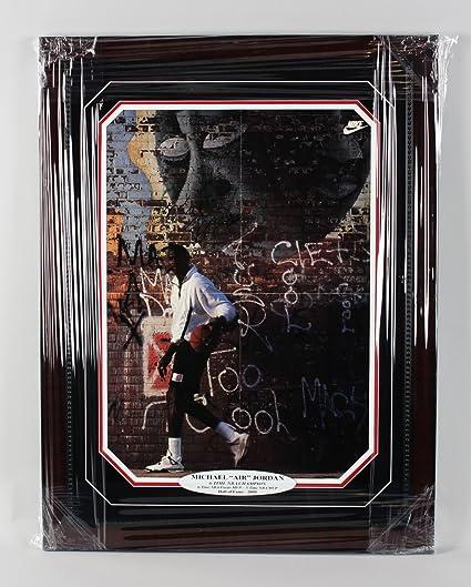 20634b756 Bulls - Michael Jordan Signed Wheaties 16x23 Poster in Display (Pers ...