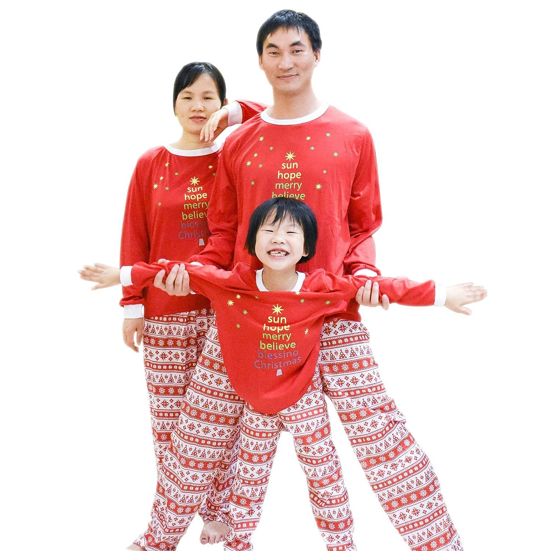 BOZEVON Conjunto de Pijama de Navidad Familiar - Set de Pijama de ...