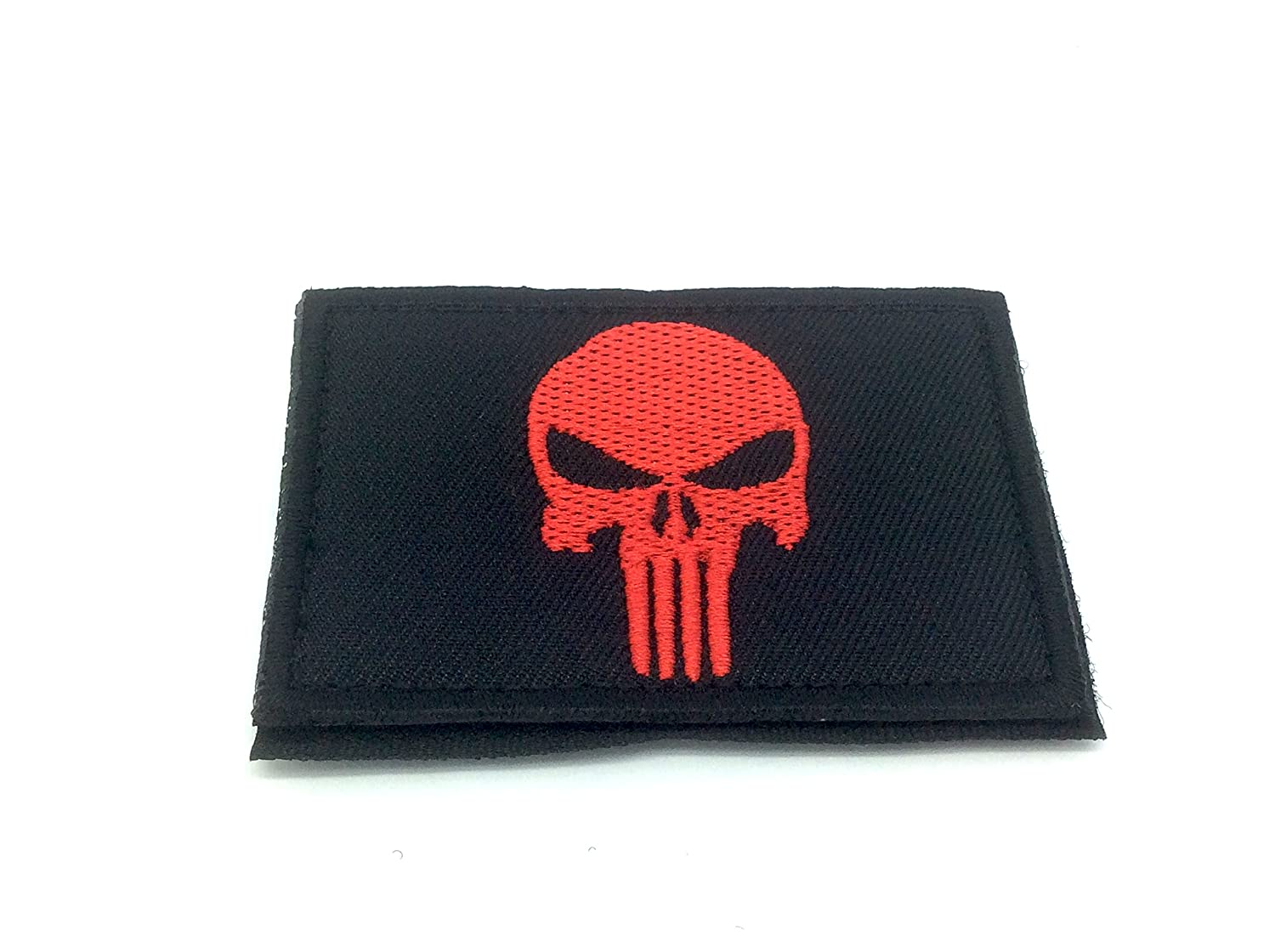 Punisher Rosso Ricamato Airsoft Patch Toppa Patch Nation