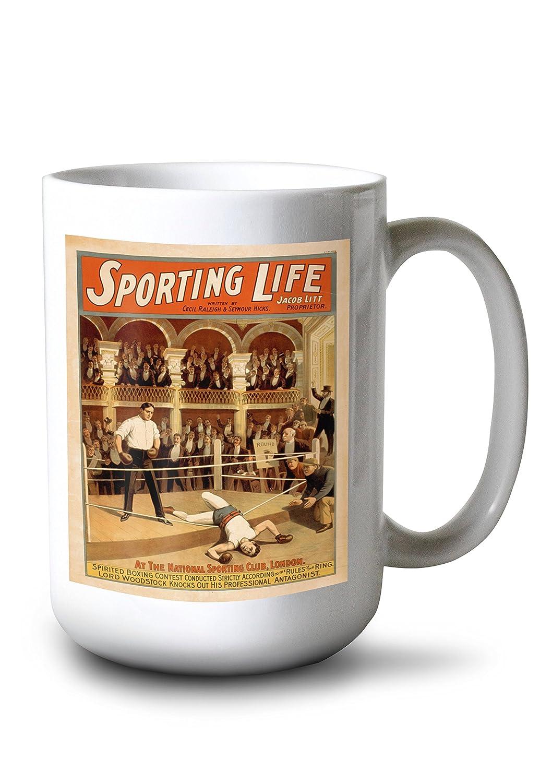 Sporting Life Boxing Theatrical再生ポスター 15oz Mug LANT-3P-15OZ-WHT-4391 B0784LRVV2  15oz Mug