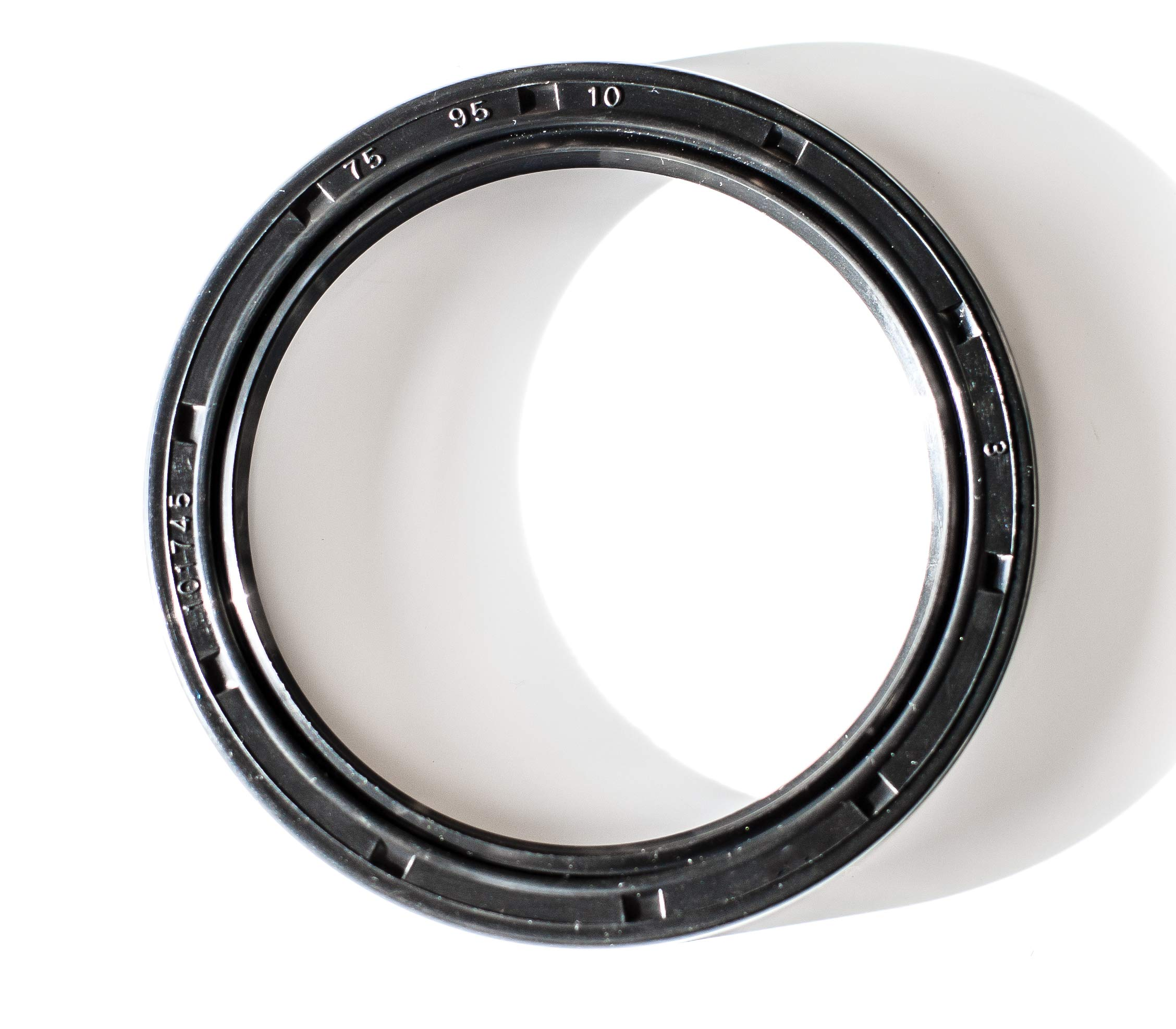 Oil Seal 75X95X10 (10 PCS) Oil Seal Grease Seal TC |EAI Rubber Double Lip w/Garter Spring 75mmX95mmX10mm | 2.953''x3.740''x0.394''