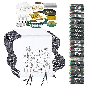 Detalles Cumpleaños Infantiles Partituki. 30 Mochilas de Colorear, 30 Sets de 5 Ceras y 12 Piezas de Fotocall Cocinero. Para Regalos Cumpleaños Niños ...