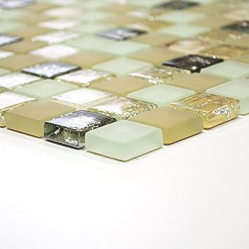 Fliesen Mosaik Mosaikfliese Bad Küche Crystal Muschel beige Bordüre ...