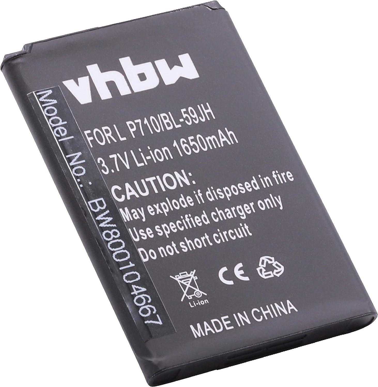 vhbw batería 1650mAh (3.7V) para Smartphone, Teléfono móvil, Celular LG Optimus L7 II Dual, Optimus L7II, P710, P715 por BL-59JH.: Amazon.es: Electrónica