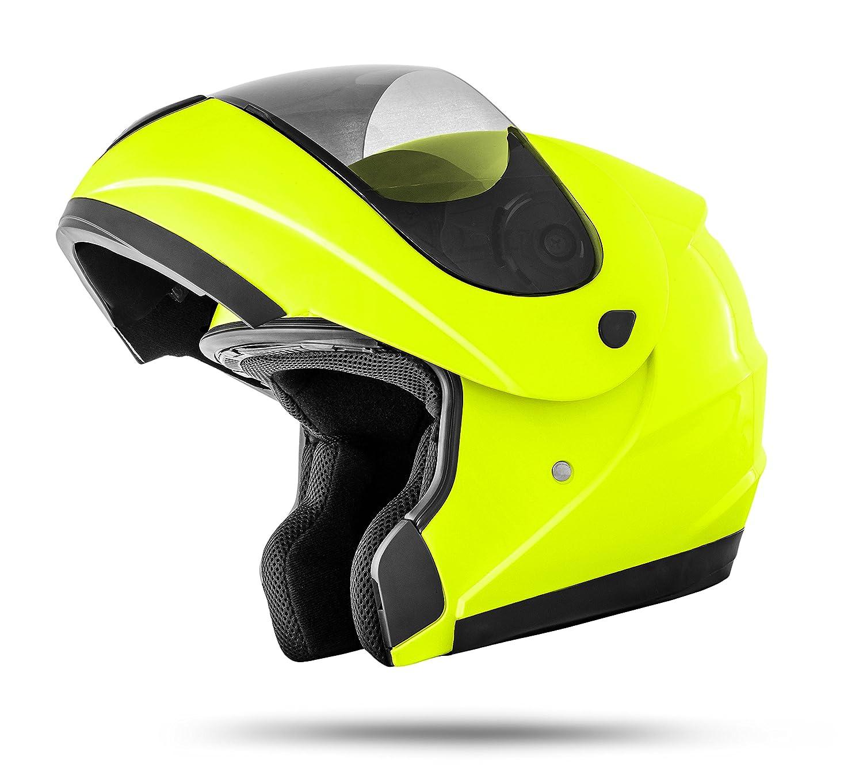 colore fluo M 57//58 cm amarillo ne/ón Stark K71-Casco pieghevole conforme con la normativa ultima di sicurezza ECE 2205