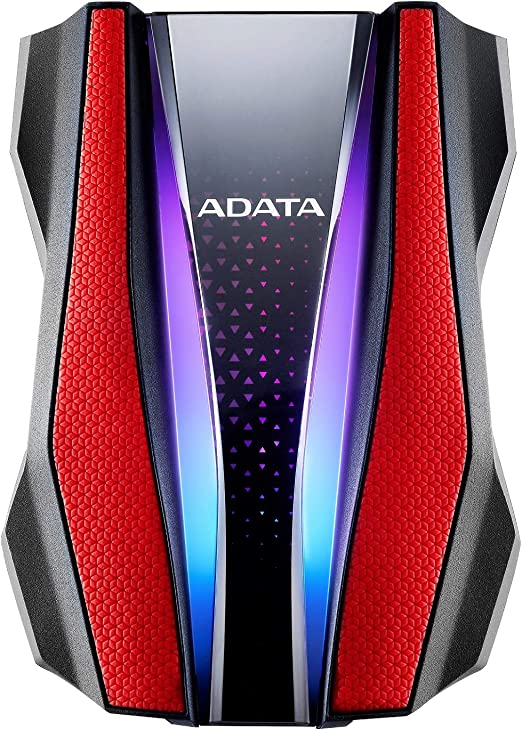 Amazon.com: ADATA Durable Series HD770G RGB 2TB Red External USB 3.1 Portable Hard Drive Compatible with Xbox and PS4 (AHD770G-2TU32G1-CRD): Computers & Accessories