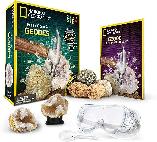 Break Open 4 Geodes Science Kit
