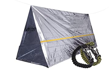 STEPS Emergency Tent Survival Shelter Mylar Thermal Reflective Tube plus Free Two Survival Bracelet Paracord  sc 1 st  Amazon UK & STEPS Emergency Tent Survival Shelter Mylar Thermal Reflective ...