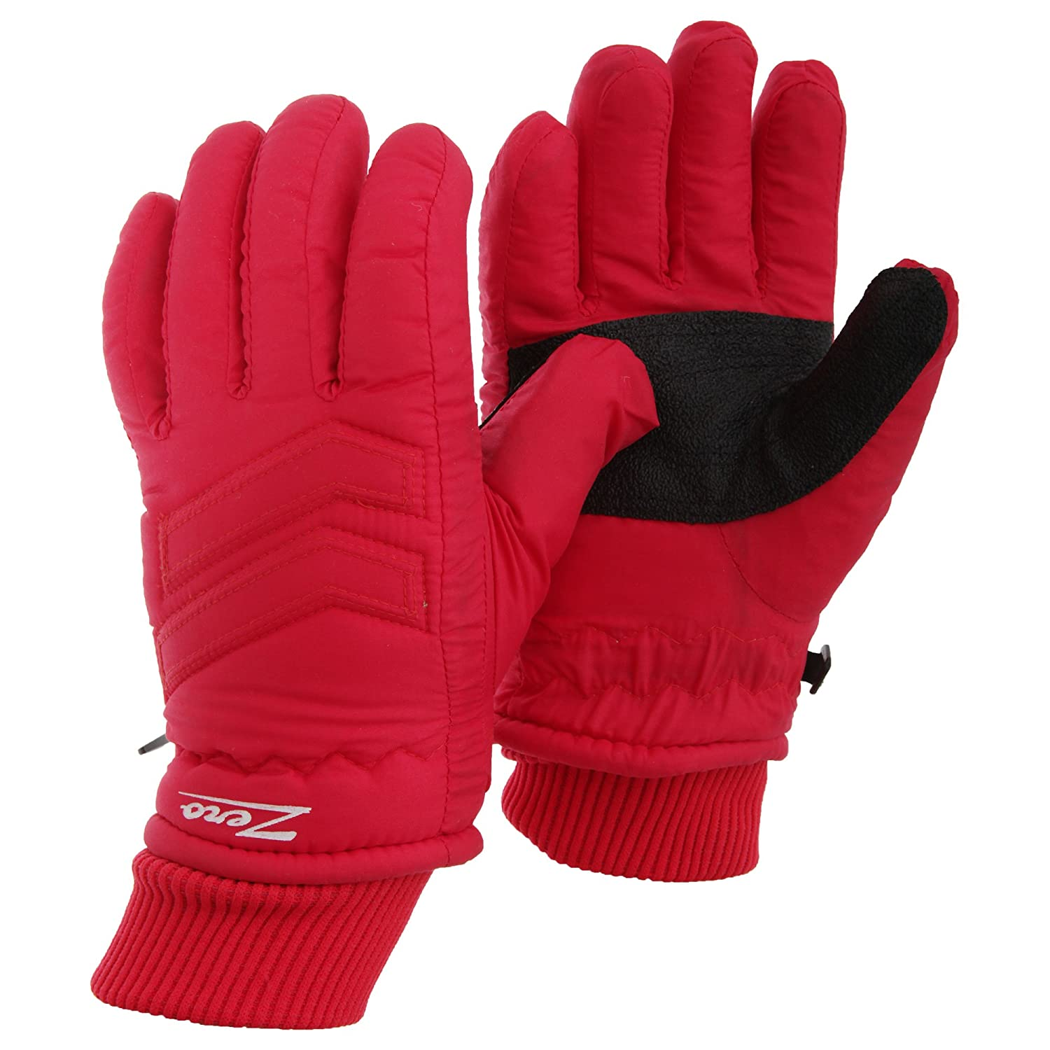 Childrens/Kids Zero Waterproof Hollofil Ski Gloves With Palm Grip (Medium) (Red) Universal Textiles UTGL538_1