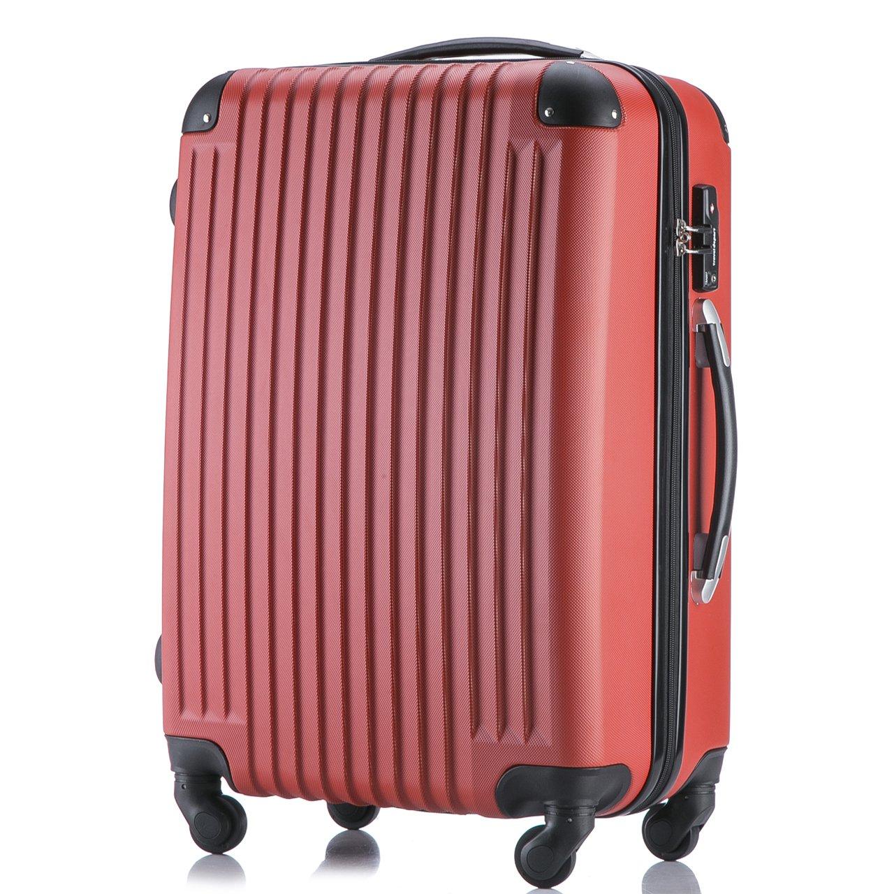 (トラベルデパート) 超軽量スーツケース TSAロック付 B01MTR6MTS Lサイズ(長期旅行用/86L)|レッド レッド Lサイズ(長期旅行用/86L)