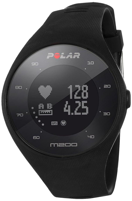 Polar, M200 Orologio GPS con Cardiofrequenzimetro Integrato, Rilevazione della Frequenza Cardiaca Direttamente dal Polso, Monitoraggio Attività Fisica e Sonno, Cinturino Intercambiabile, Connettività a Mobile e Web Service Unisex-Adulto, Nero, M/L
