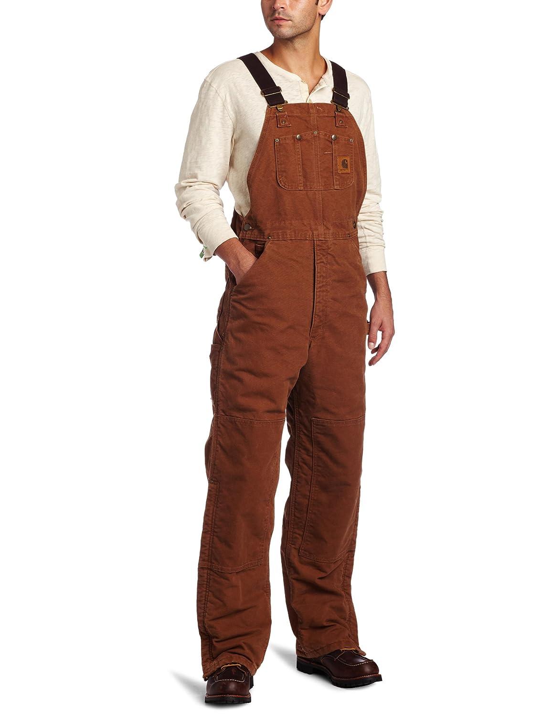 Carhartt Men's Quilt Lined Sandstone Bib Overall R27 Carhartt Sportswear - Mens