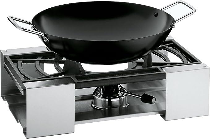 WMF 1790046030 Cook! - Juego de wok, hornillo y rejilla (3 piezas)