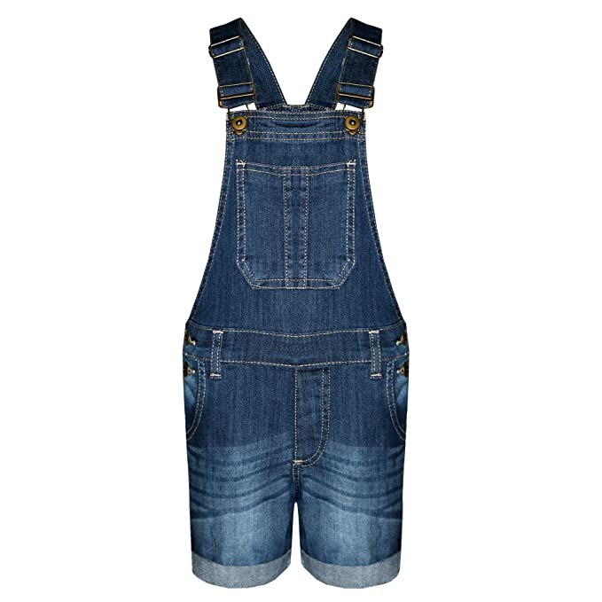 a468bfd5afa0 New in Stylish Summer Girl s Denim Dungaree Shorts Jumpsuit Ages 7 8 ...