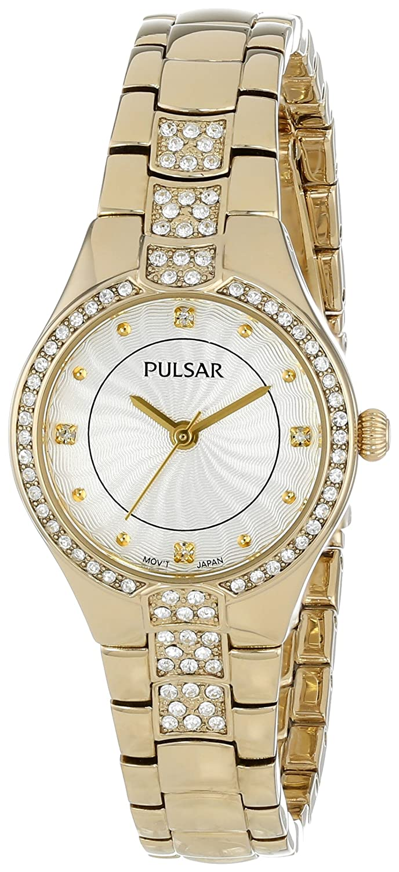 Pulsar Women s PH8060 Analog Display Japanese Quartz Gold Watch