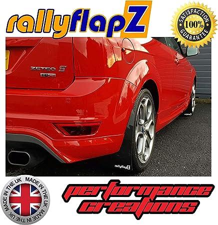 Black 3.2mm PVC RF Logo Yellow rallyflapZ//Custom Made Set of Mud Flaps Mudflaps Mud Guards for Front /& Rear RFFST225-BLK-3.2-RF-Y