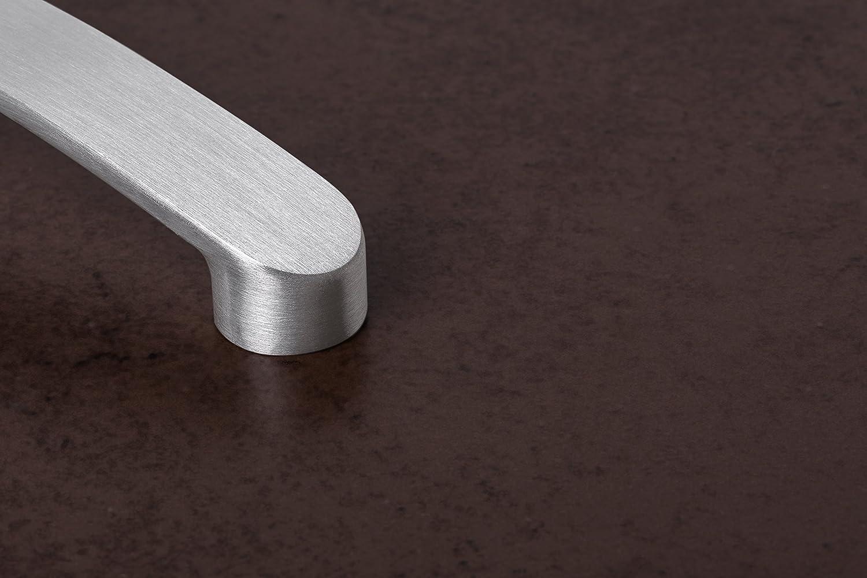 Metall verchromt matt Modell Andrea Griff H/öhe 32 mm 1 St/ück mit Schrauben Gedotec Design Schubladengriff Chrom matt M/öbelgriff 160 mm K/üchengriff