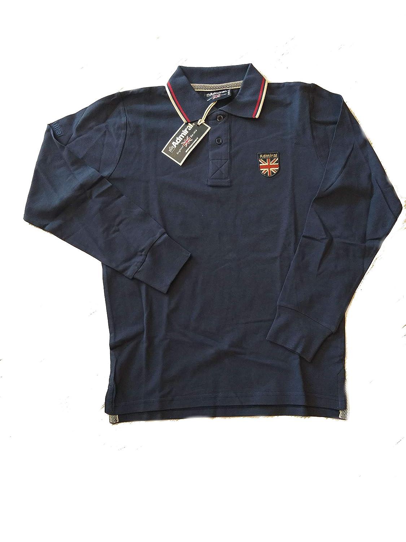 Admiral Polo England Piquet Manica Lunga AD2322 Cotone Sport Tempo ...