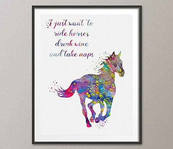 Amazon Horse Quote Watercolor Posters Art Prints Wall Decor