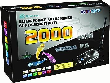 Adaptador Usb Wifi Wifisky 2000mw + Antena 6dBi y Chipset ...