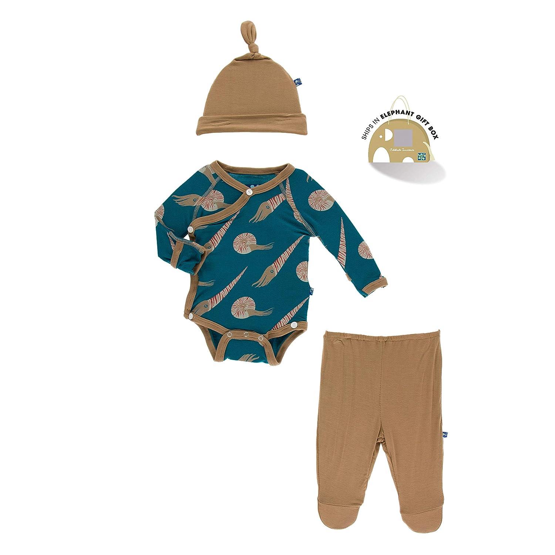 Paleontology Collection KicKee Pants Kimono Newborn Gift Set with Elephant Box