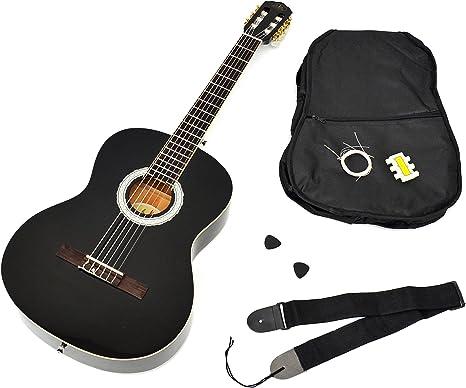Ts-ideen - Guitarra clásica (tamaño 4/4, con diapasón de ...