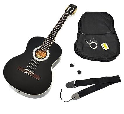 Ts-Ideen 1791 - Guitarra acústica 4/4 con accesorios (funda, correa