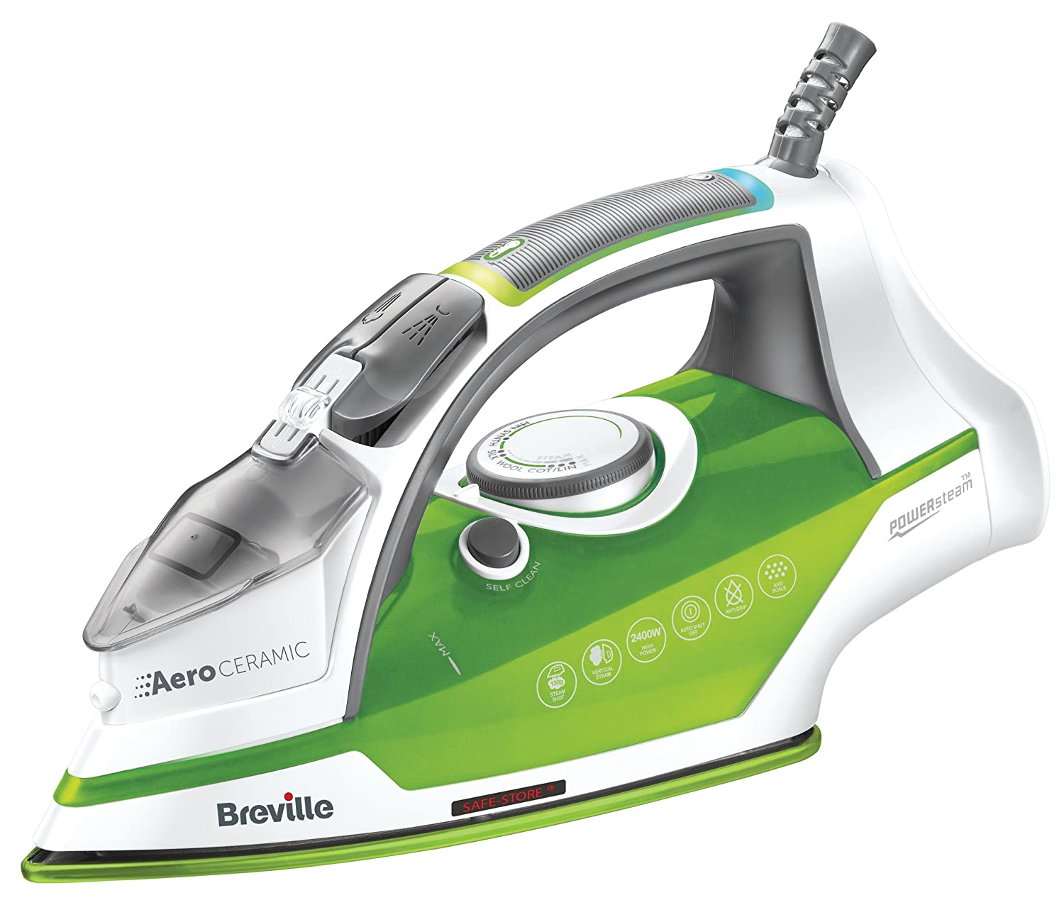 Breville VIN393 Aero Ceramic Steam Iron, 2400 W [Energy Class A] Jarden Consumer Solutions