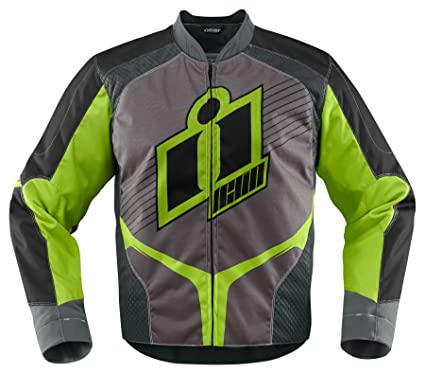 Icon Overlord 2 Textile Motorcycle Jacket Mens Green Small