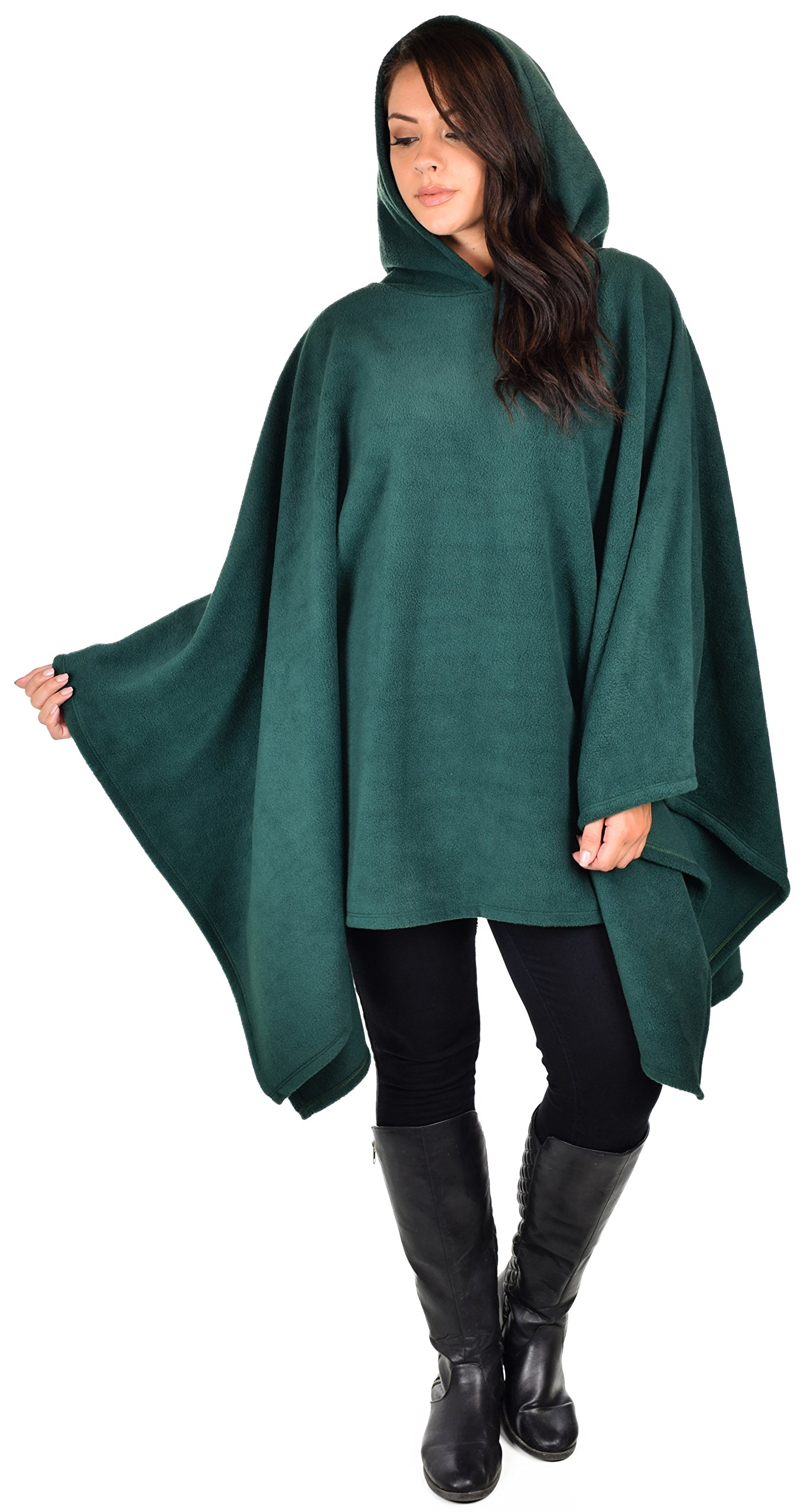 Dare2bStylish Women Poncho Style Hoodie Sweater Fleece Cover Up for Cold Weather
