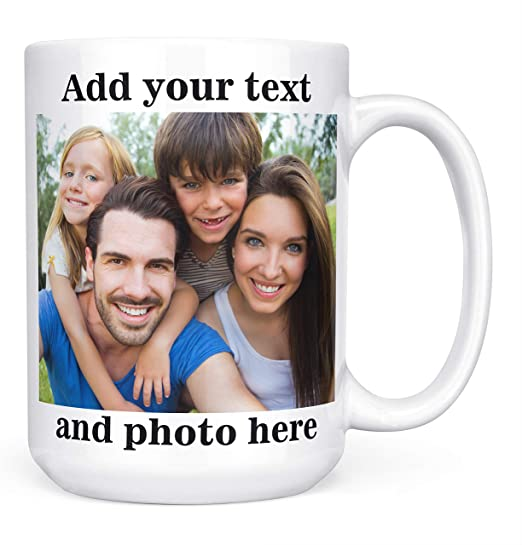 Coffee mug personalized Custom Photo Text Logo Name Printed Gift Ceramic Cup