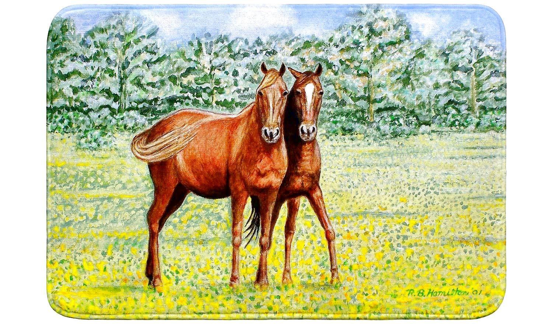 Betsy Drake Horses バスマット 24x30 B07MZCWG5F