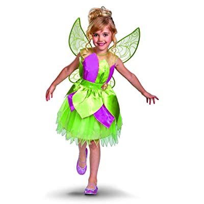 Disguise Disney Fairies Tinker Bell Deluxe Dress Girl Costume: Toys & Games