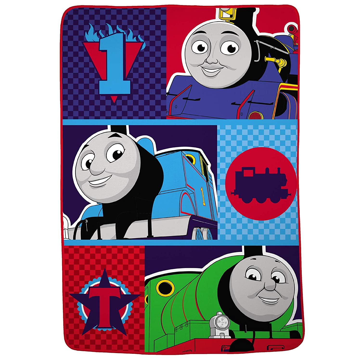 "Franco Kids Bedding Super Soft Plush Microfiber Blanket, Twin/Full Size 62"" x 90"", Thomas and Friends"