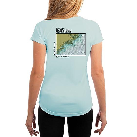 Coastal Classic Bulls Bay Chart Womens UPF 50+ UV/Sun Protection Short Sleeve T