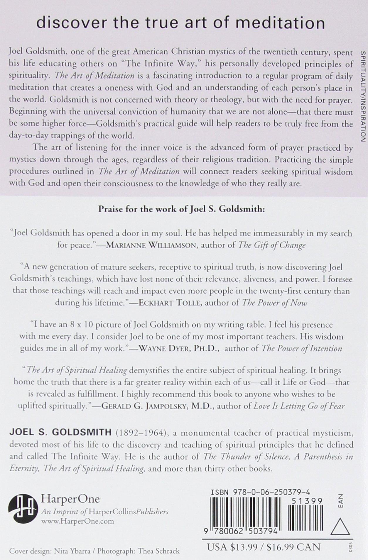 The art of meditation joel s goldsmith 9780062503794 amazon com books